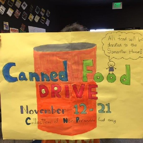 Canned Food Drive by Student Council